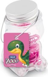 Mas - Mas Zoo - Cam Kavanozda Plastik Kaplı Atas - No:2 - Pembe