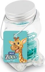 Mas - Mas Zoo - Cam Kavanozda Plastik Kaplı Atas - No:2 - Turkuaz
