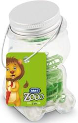 Mas - Mas Zoo - Cam Kavanozda Plastik Kaplı Atas - No:2 - Yesil