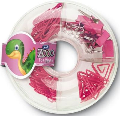 Mas Zoo - Simit Kutuda Karışık Set - Pembe
