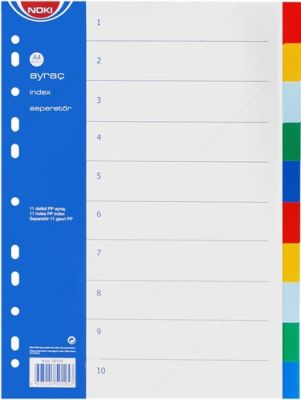 Noki Separatör A4 (2x6)12 Renk