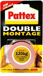 Pattex - Pattex Double Montage Çift taraflı Bant 120kg 19mmx1.5m