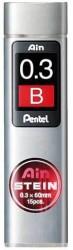 Pentel - Pentel Hi-Polymer 0.3mm B Ain Stain Min