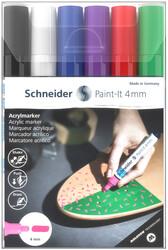 Schneider - Schneider 320 Akrilik Marker 4mm 6 lı Set-1