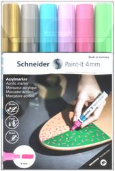 Schneider - Schneider 320 Akrilik Marker 4mm 6 lı Set-2