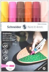 Schneider - Schneider 320 Akrilik Marker 4mm 6 lı Set-3