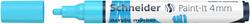 Schneider - Schneider 320 Akrilik Marker 4mm Pastel Mavi