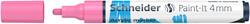 Schneider - Schneider 320 Akrilik Marker 4mm Pastel Pembe