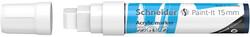 Schneider - Schneider 330 Akrilik Marker 15mm Beyaz