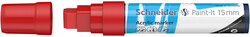 Schneider - Schneider 330 Akrilik Marker 15mm Kırmızı