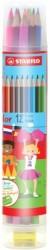 Stabilo - Stabilo Color Kuru Boya 12'li Plastik Tüp