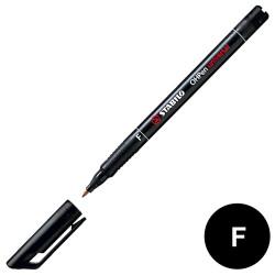 Stabilo - Stabilo OHpen Permanent (F) 0.7mm - Siyah