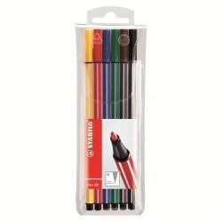 Stabilo - Stabilo Pen 68 6 Renk Askılı Paket