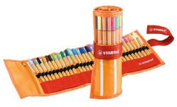 Stabilo - Stabilo Point 88 Roller Set 25 + 5 Floresan Renk