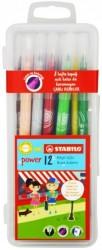Stabilo - Stabilo Power Keçeli Kalem 12 li Kutu