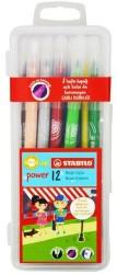Stabilo - Stabilo Power Max Kalın Uçlu Keçeli Kalem 12 li Kutu