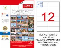 Tanex - Tanex Laser Etiket 105x48mm