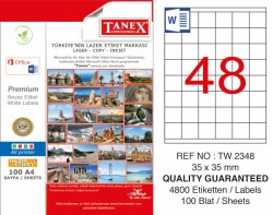 Tanex - Tanex Laser Etiket 35x35mm