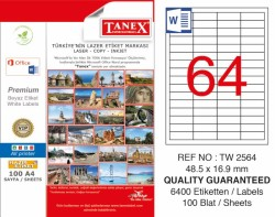 Tanex - Tanex Laser Etiket 48.5x16.9mm
