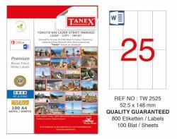 Tanex - Tanex Laser Etiket 52.5x148.5mm