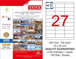 Tanex - Tanex Laser Etiket 70x30mm