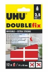 Uhu - Uhu DoubleFix Şeffaf Güçlü Montaj Bantı Şerit (19mm x 40mm) 12 Adet