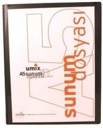 Umix - Umix Önden Cepli Sunum Dosyası A5 10'lu Siyah