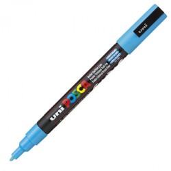 Uni-Ball - Uni PC-3M Posca Renkli Poster Markörü (0.9-1.3 mm) Açık Mavi
